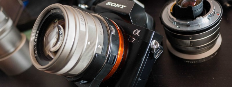 DEO TEC bague adaptatrice Optique Contax G sur Sony Alpha 7 avec AF !